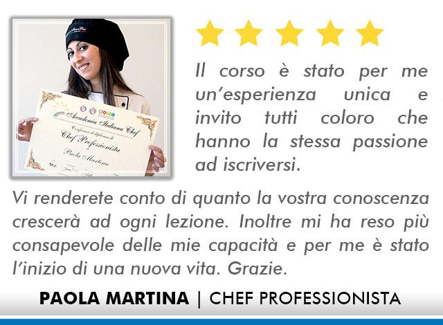 Corso Chef a Firenze Opinioni - Martina