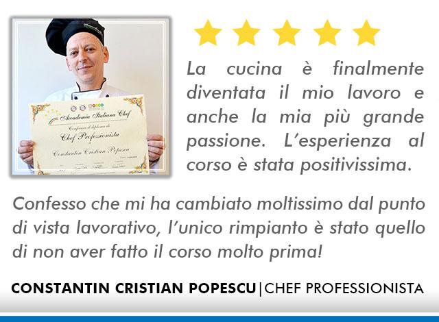 Corso Chef a Firenze Opinioni - Popescu