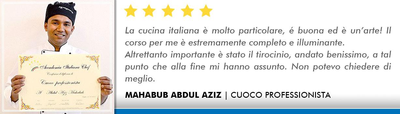 Corso Cuoco a Firenze Opinioni - Abdul